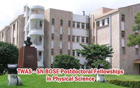 postdoctoral fellowships physical sciences-TWAS-SN BOSE-India-Italy